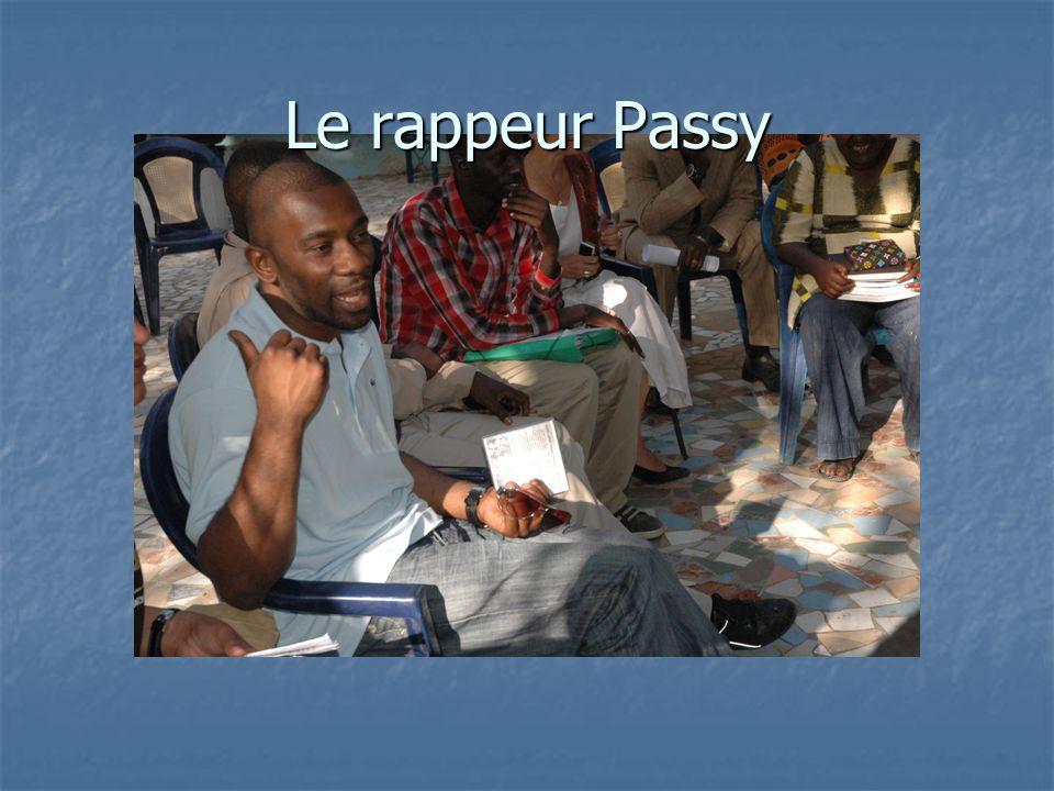 Le rappeur Passy