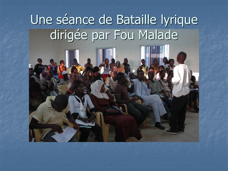 Une séance de Bataille lyrique dirigée par Fou Malade