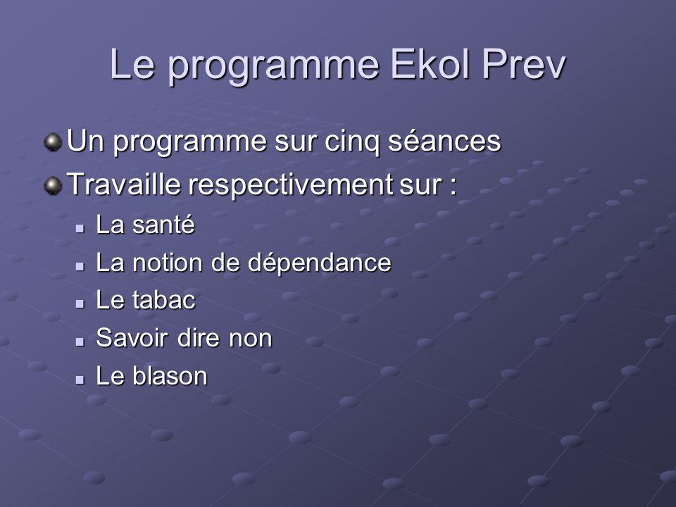 Le programme Ekol Prev Un programme sur cinq séances
