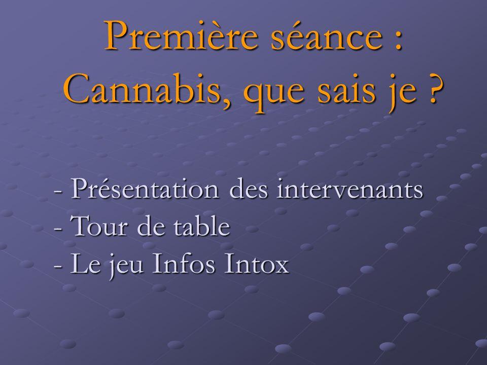 Première séance : Cannabis, que sais je