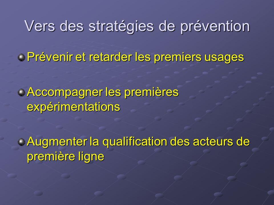 Vers des stratégies de prévention