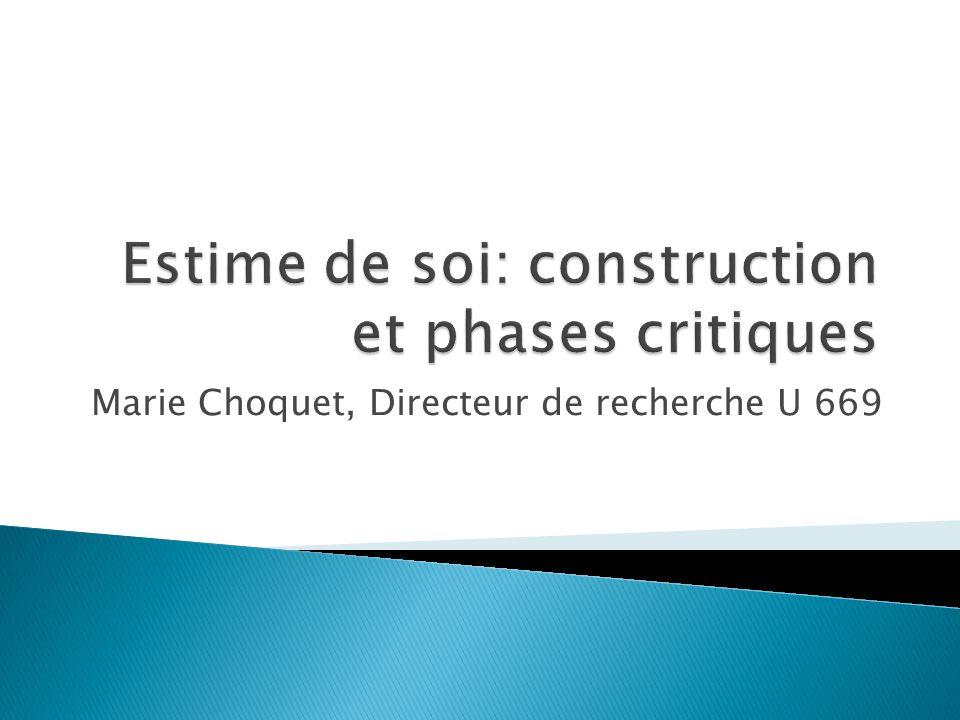 Estime de soi: construction et phases critiques