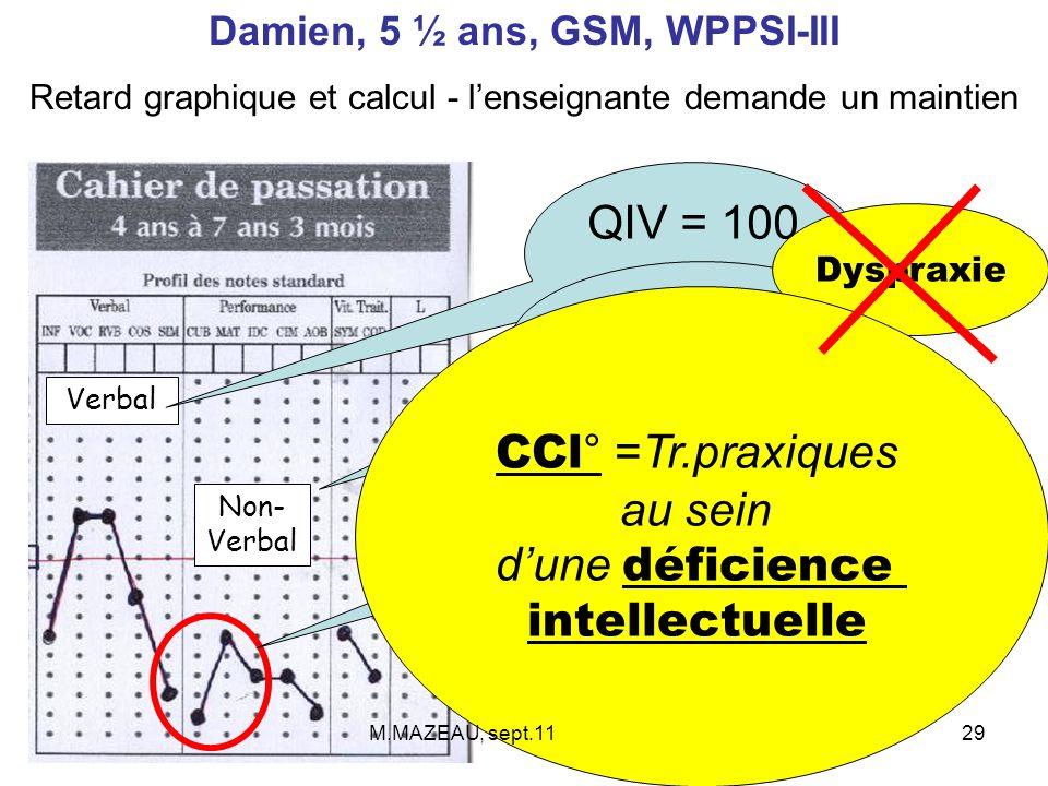 Damien, 5 ½ ans, GSM, WPPSI-III