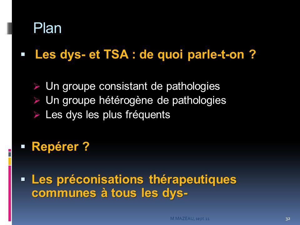 Plan Les dys- et TSA : de quoi parle-t-on Repérer