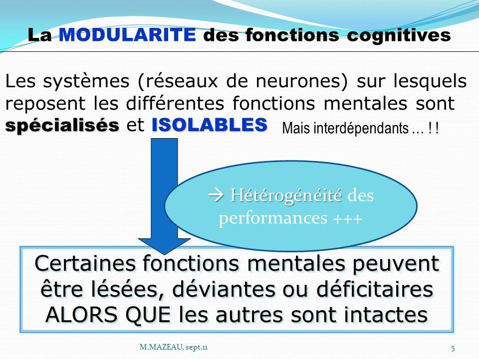 La MODULARITE des fonctions cognitives