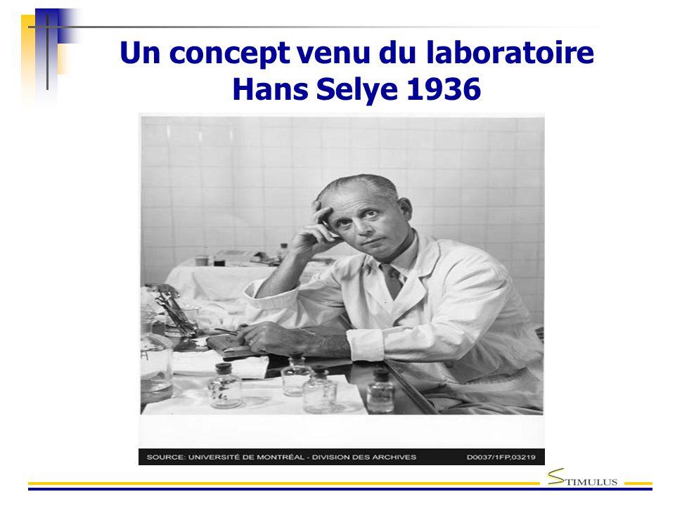 Un concept venu du laboratoire Hans Selye 1936