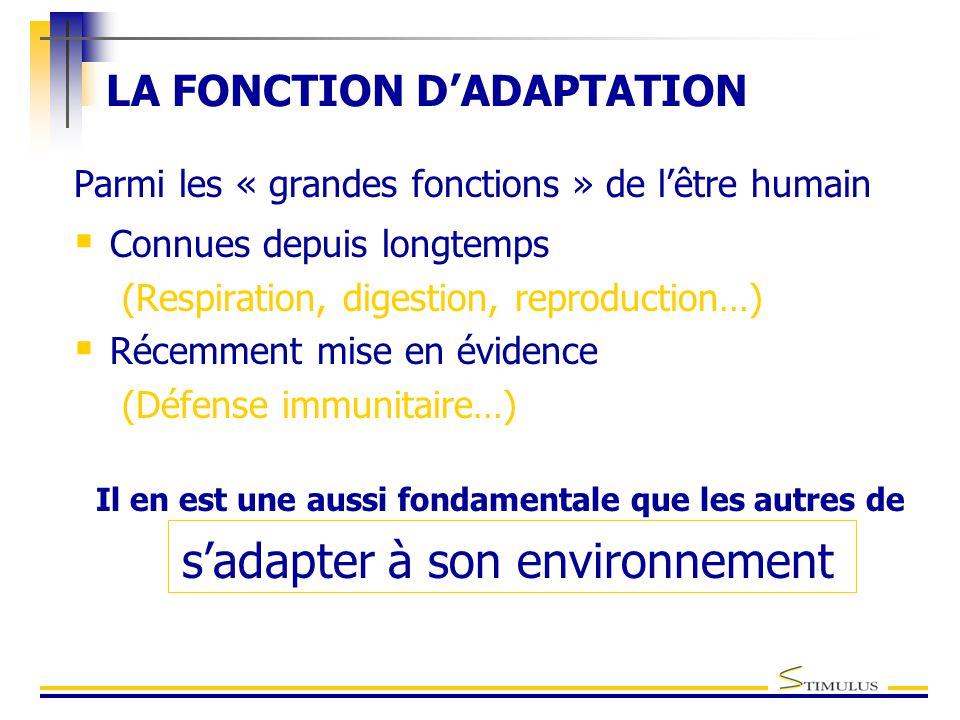 LA FONCTION D'ADAPTATION