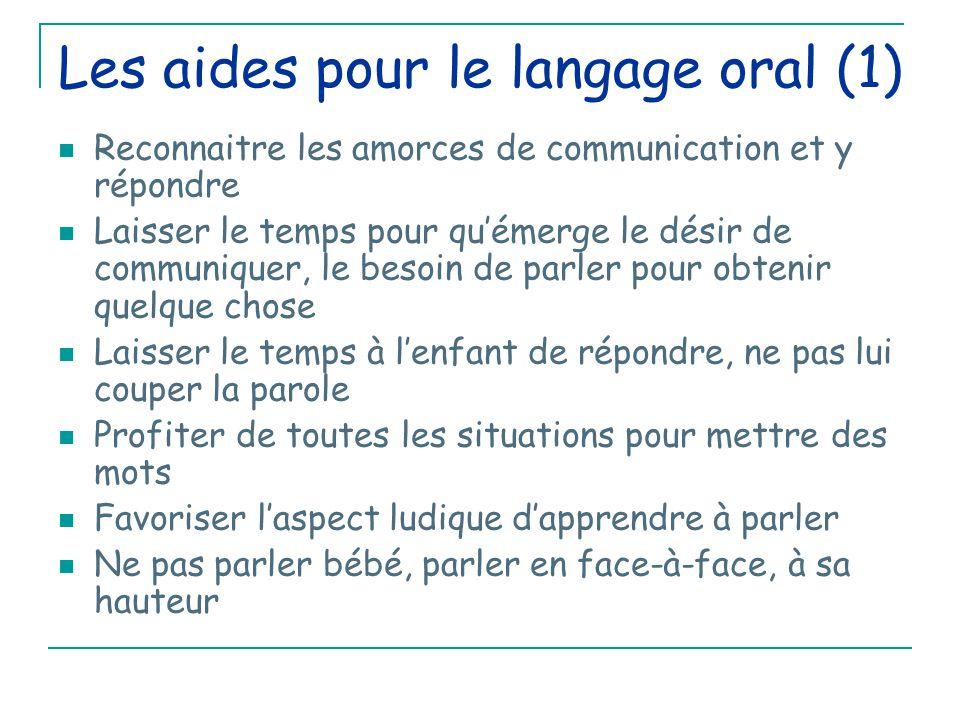 Les aides pour le langage oral (1)