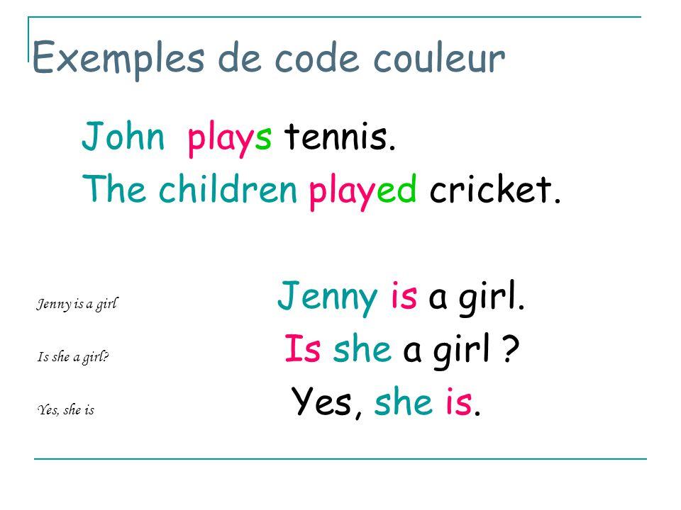 Exemples de code couleur