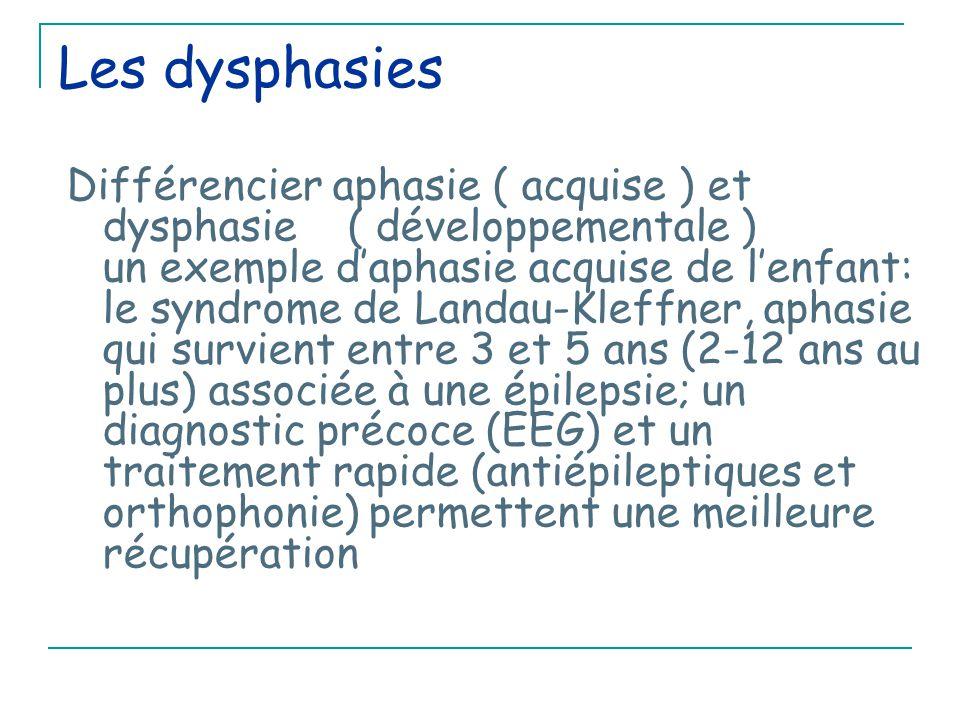 Les dysphasies