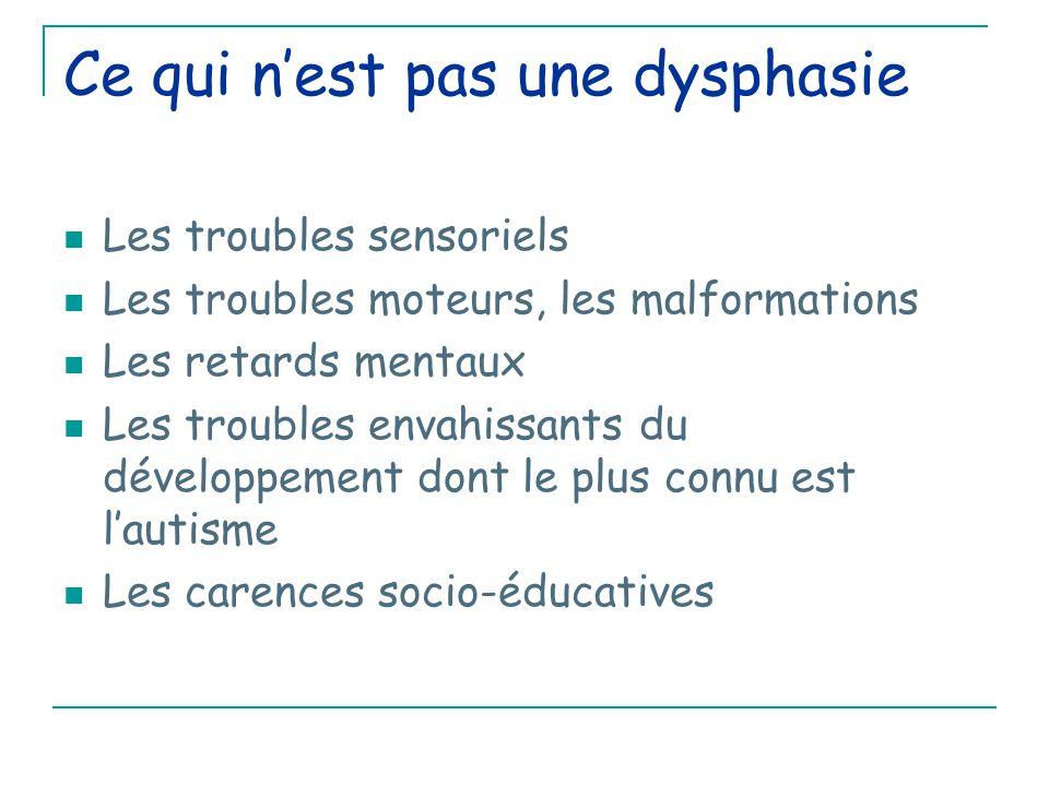 Ce qui n'est pas une dysphasie