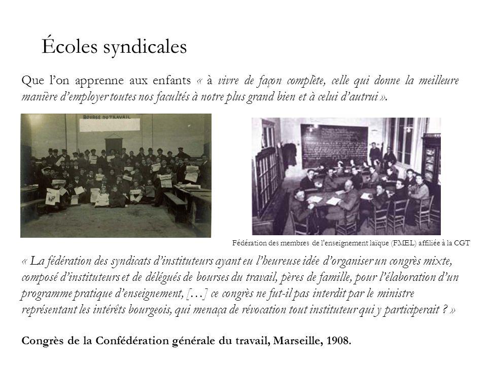 Écoles syndicales