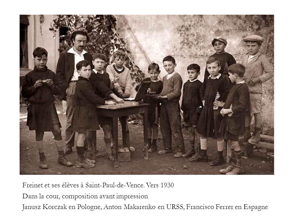 Freinet et ses élèves à Saint-Paul-de-Vence. Vers 1930