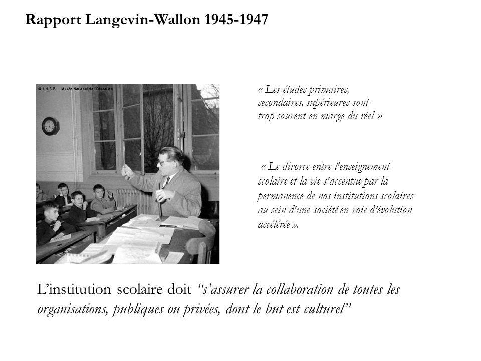 Rapport Langevin-Wallon 1945-1947