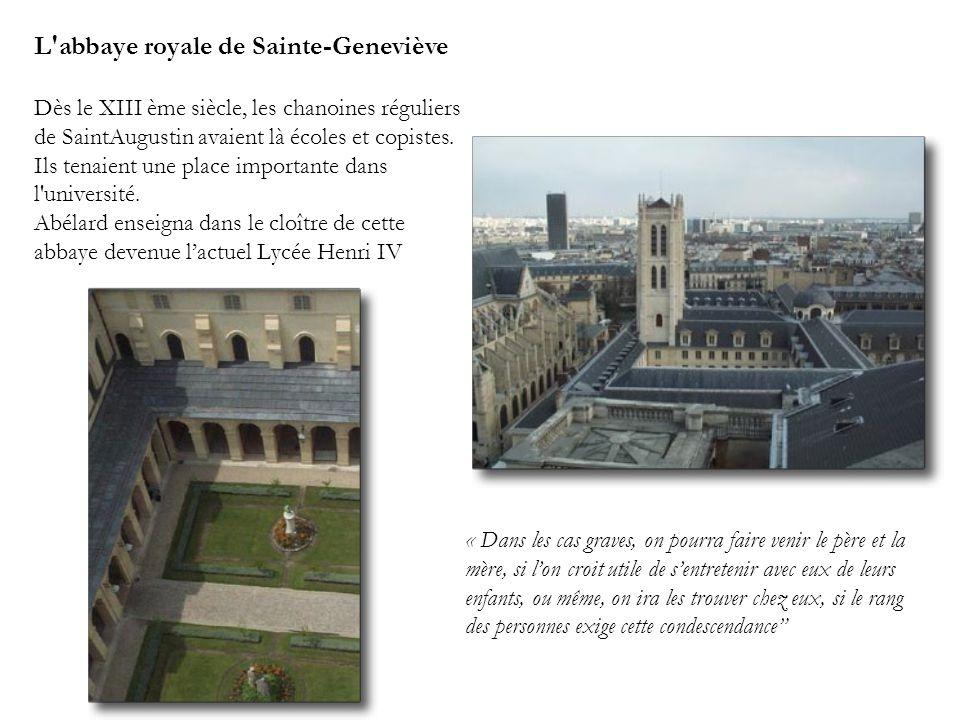 L abbaye royale de Sainte-Geneviève