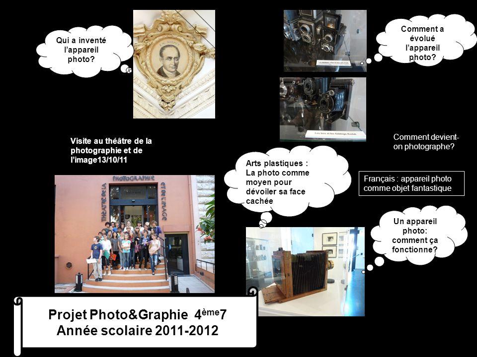 Projet Photo&Graphie 4ème7 Année scolaire 2011-2012