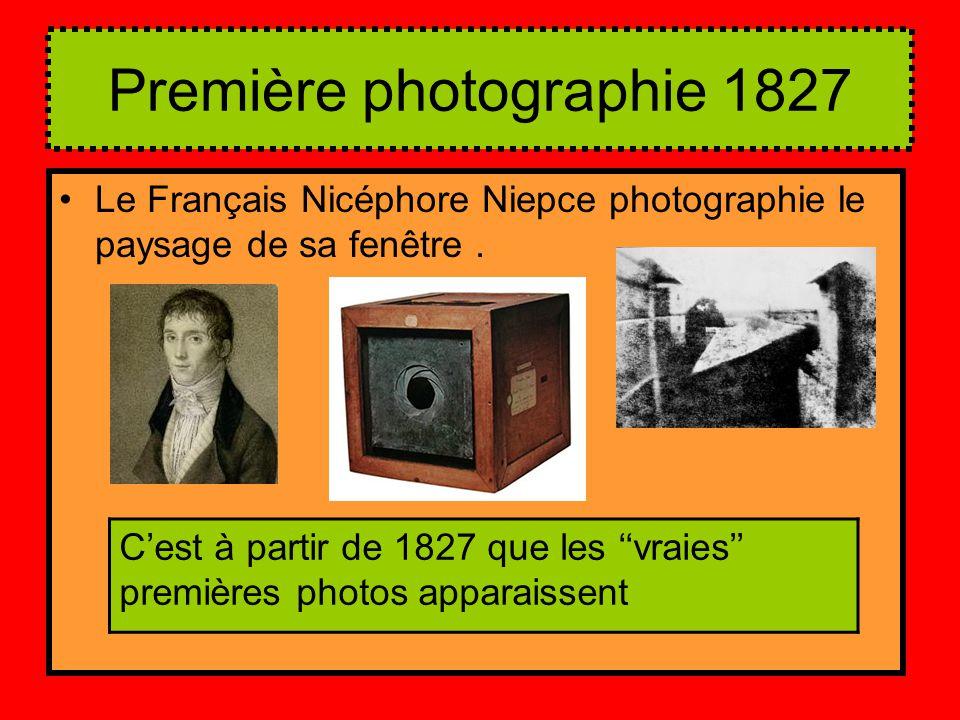 Première photographie 1827