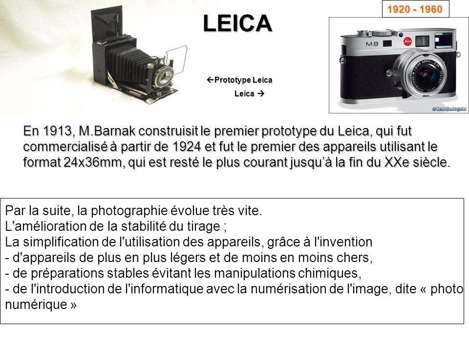 1920 - 1960 LEICA. Prototype Leica. Leica 