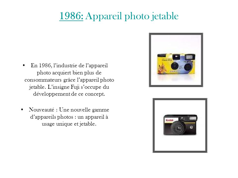 1986: Appareil photo jetable