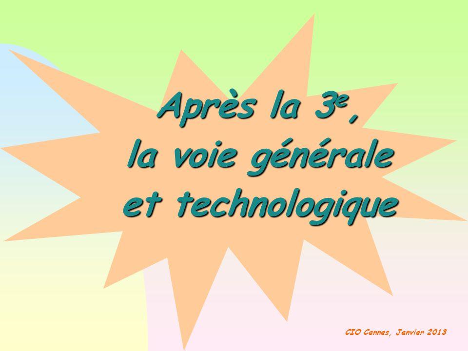 Après la 3e, la voie générale et technologique