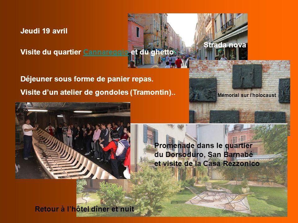 Visite du quartier Cannareggio et du ghetto