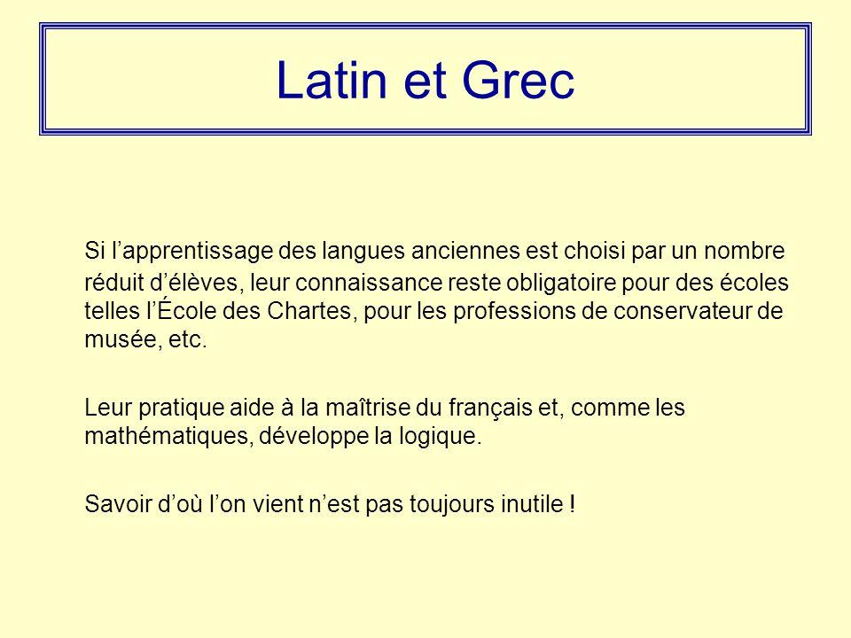 Latin et Grec