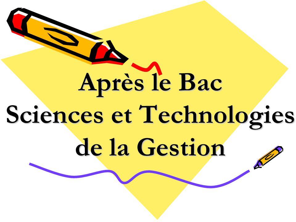 Après le Bac Sciences et Technologies de la Gestion