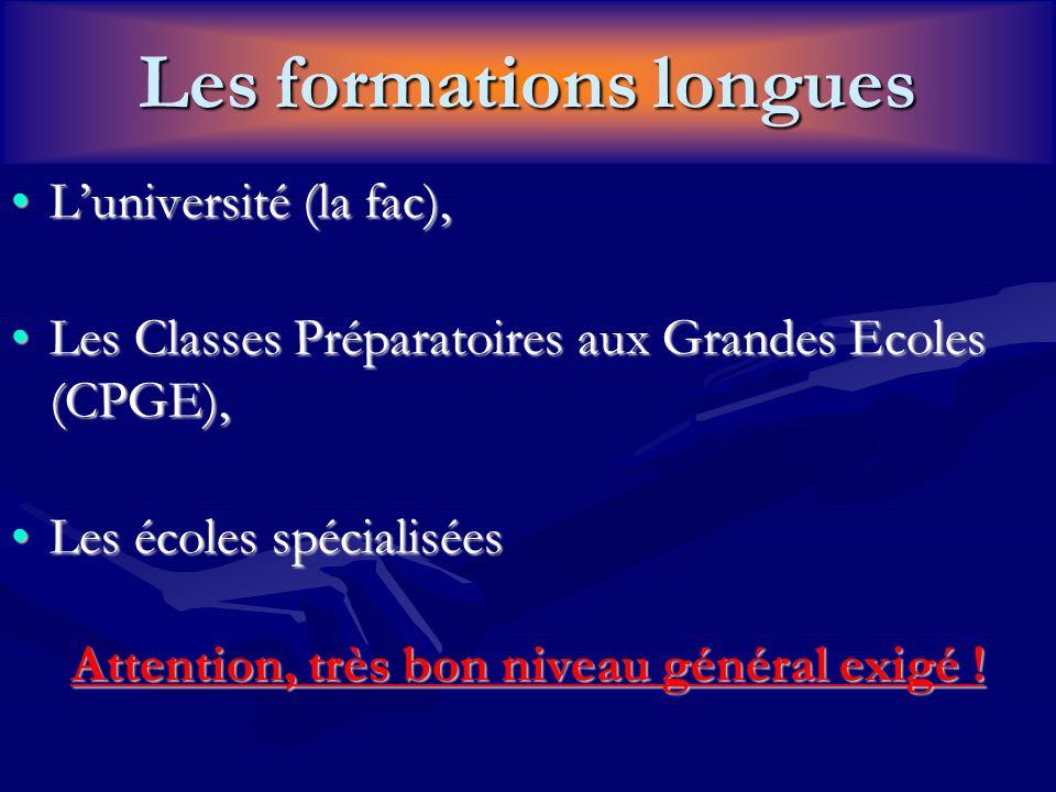 Les formations longues