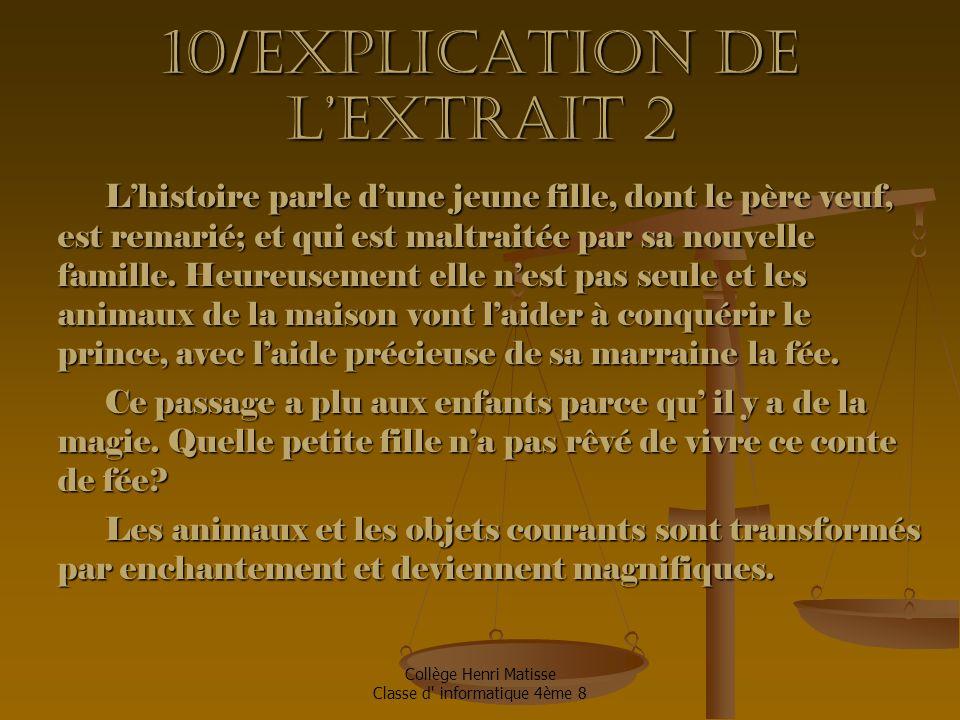 10/Explication de l'extrait 2