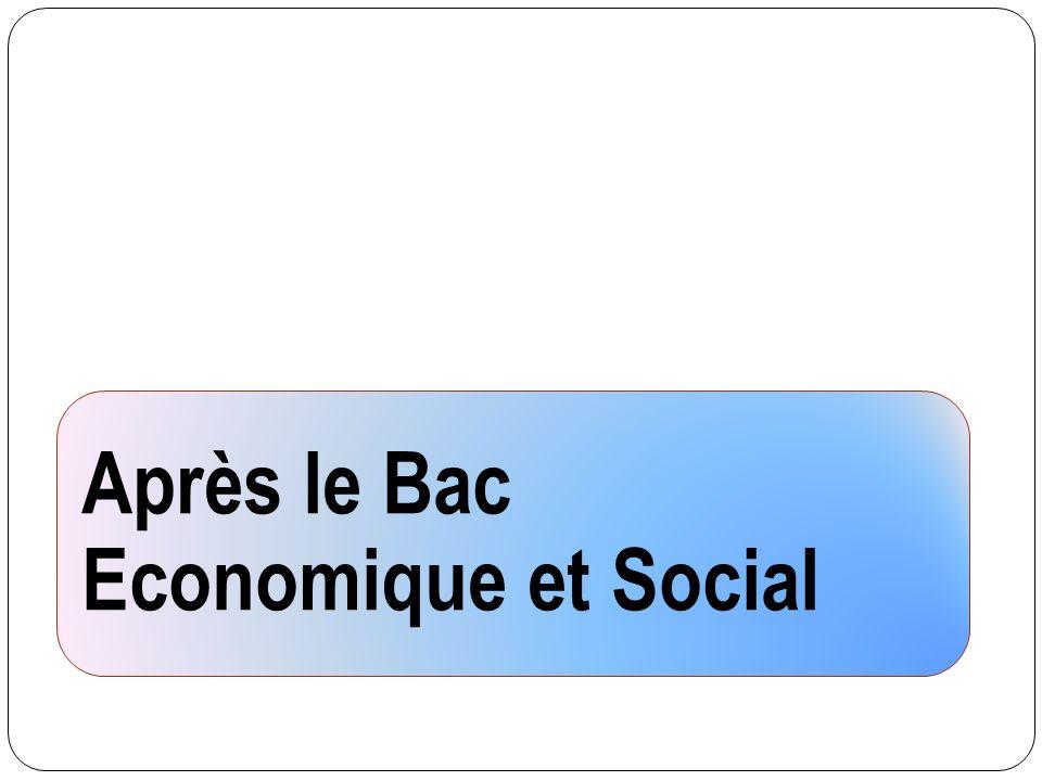 Après le Bac Economique et Social