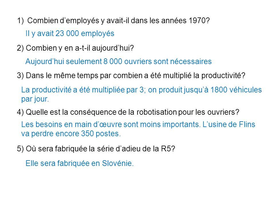 Combien d'employés y avait-il dans les années 1970