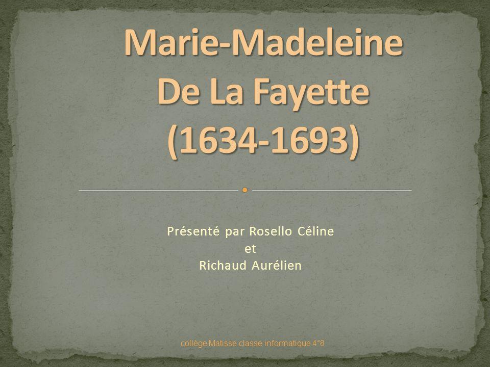 Marie-Madeleine De La Fayette (1634-1693)