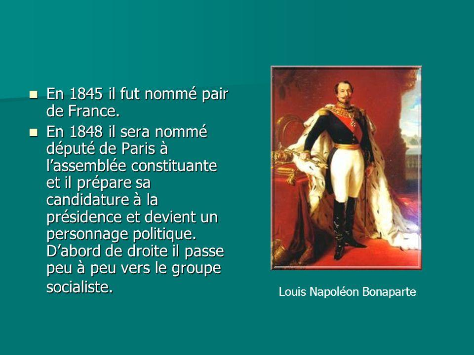 En 1845 il fut nommé pair de France.