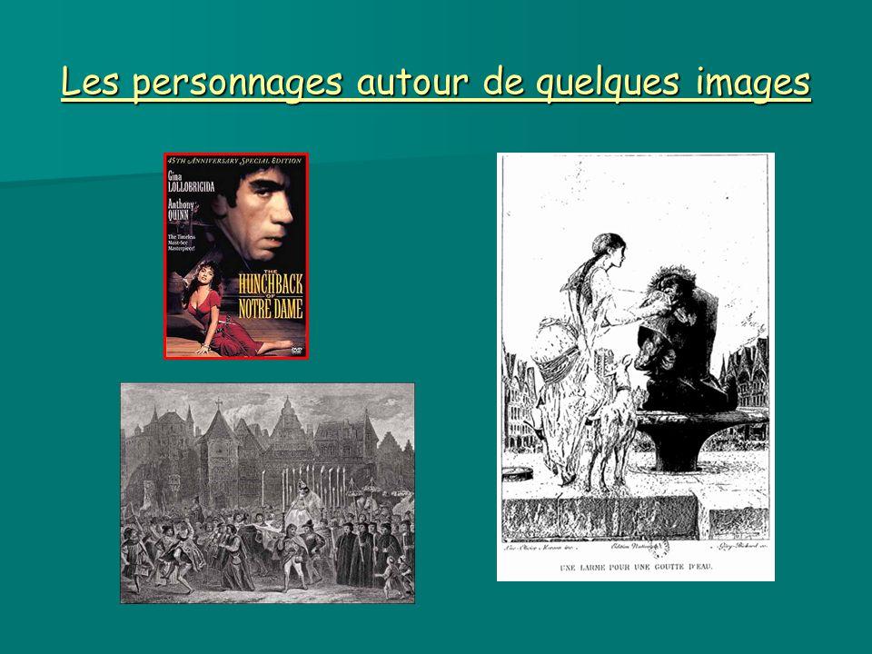 Les personnages autour de quelques images