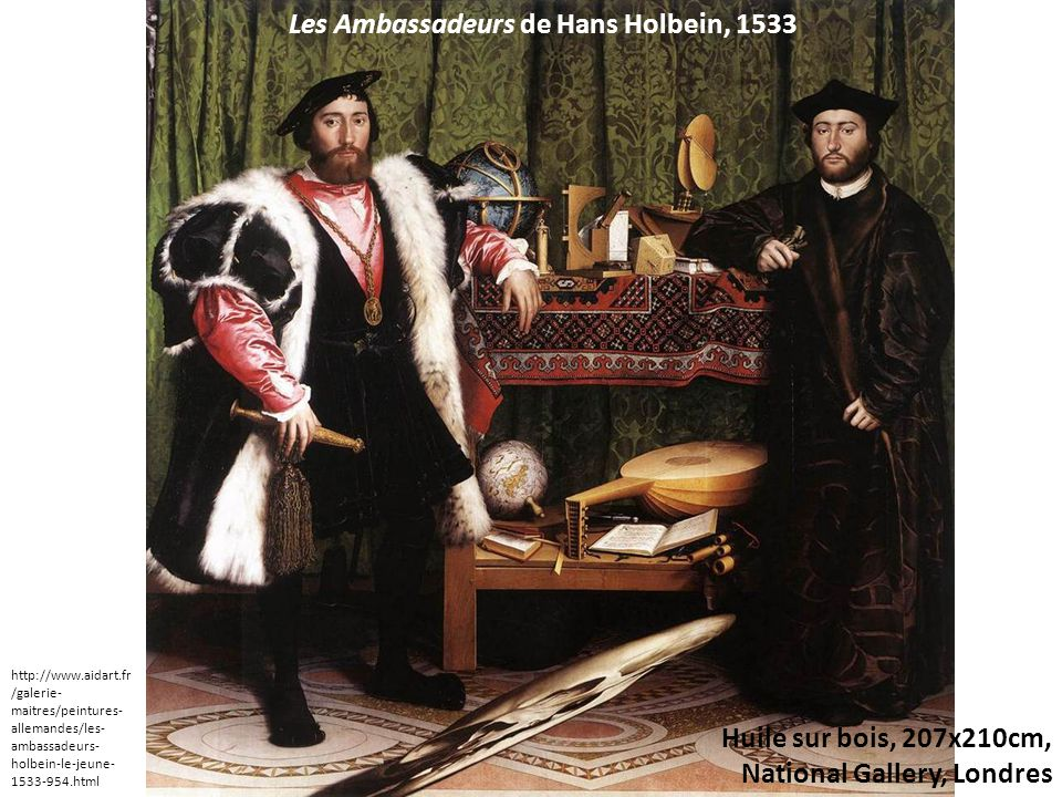 Les Ambassadeurs de Hans Holbein, 1533