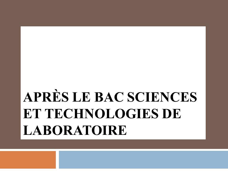 Après le Bac Sciences et Technologies de laboratoire