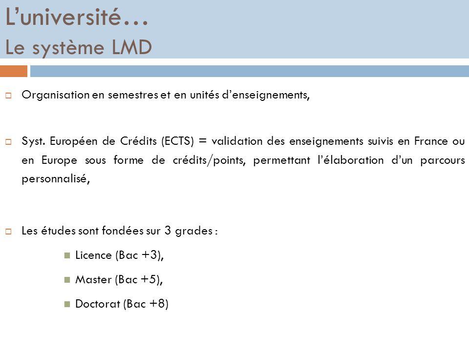L'université… Le système LMD