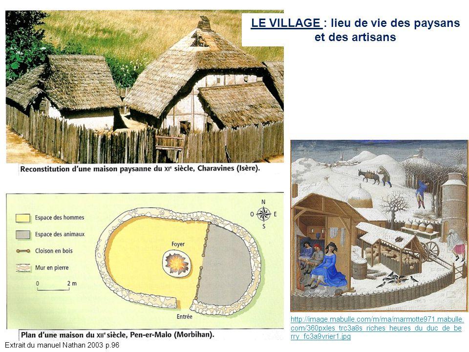 LE VILLAGE : lieu de vie des paysans et des artisans