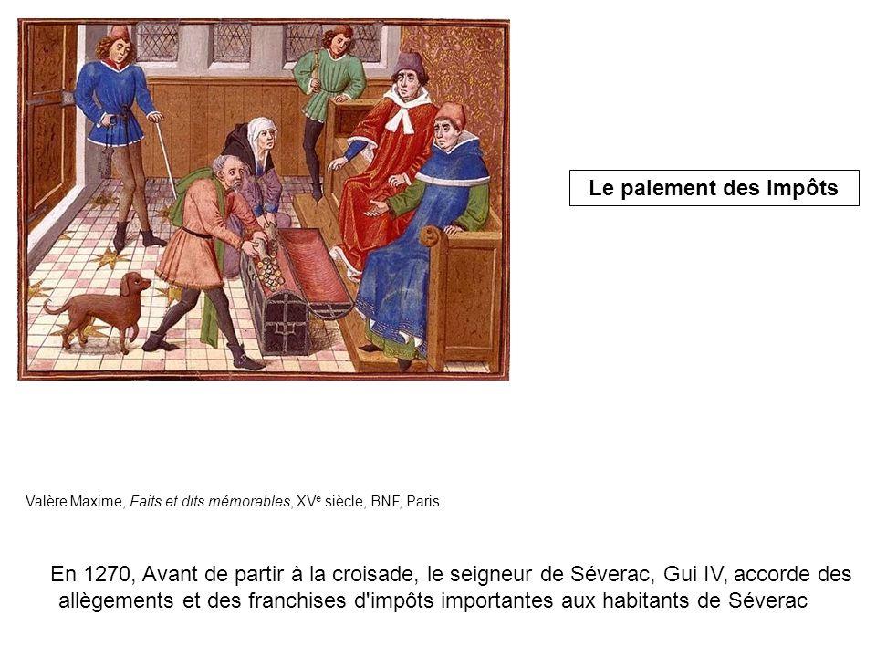 Le paiement des impôts Valère Maxime, Faits et dits mémorables, XVe siècle, BNF, Paris.