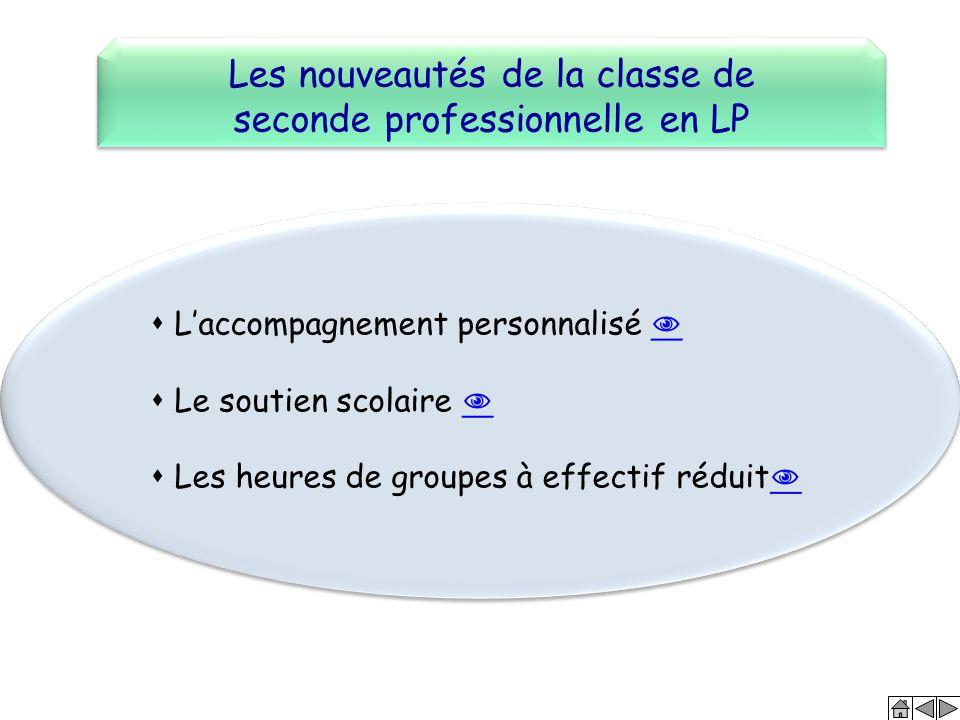 Les nouveautés de la classe de seconde professionnelle en LP