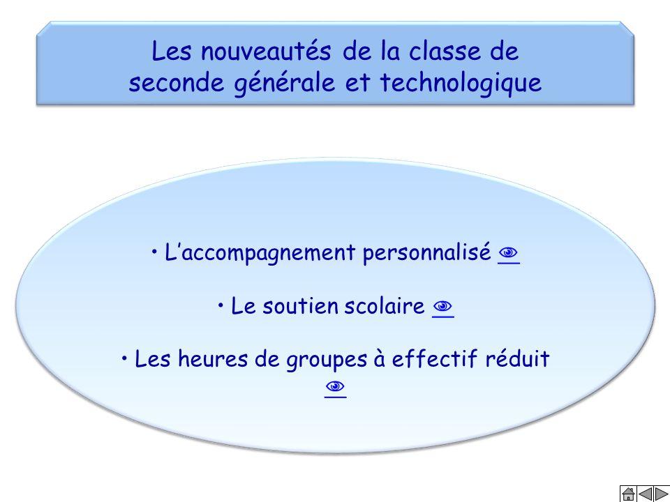 Les nouveautés de la classe de seconde générale et technologique