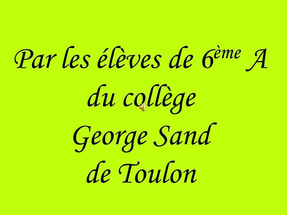 Par les élèves de 6ème A du collège George Sand de Toulon