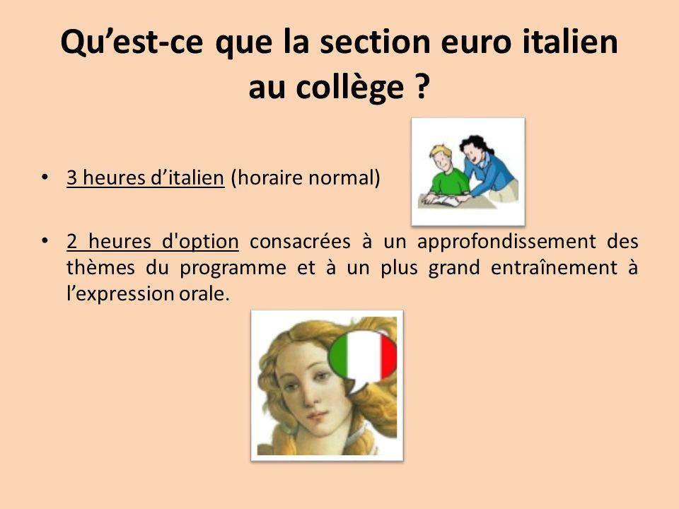 Qu'est-ce que la section euro italien au collège