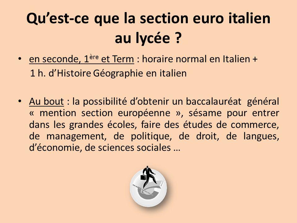 Qu'est-ce que la section euro italien au lycée