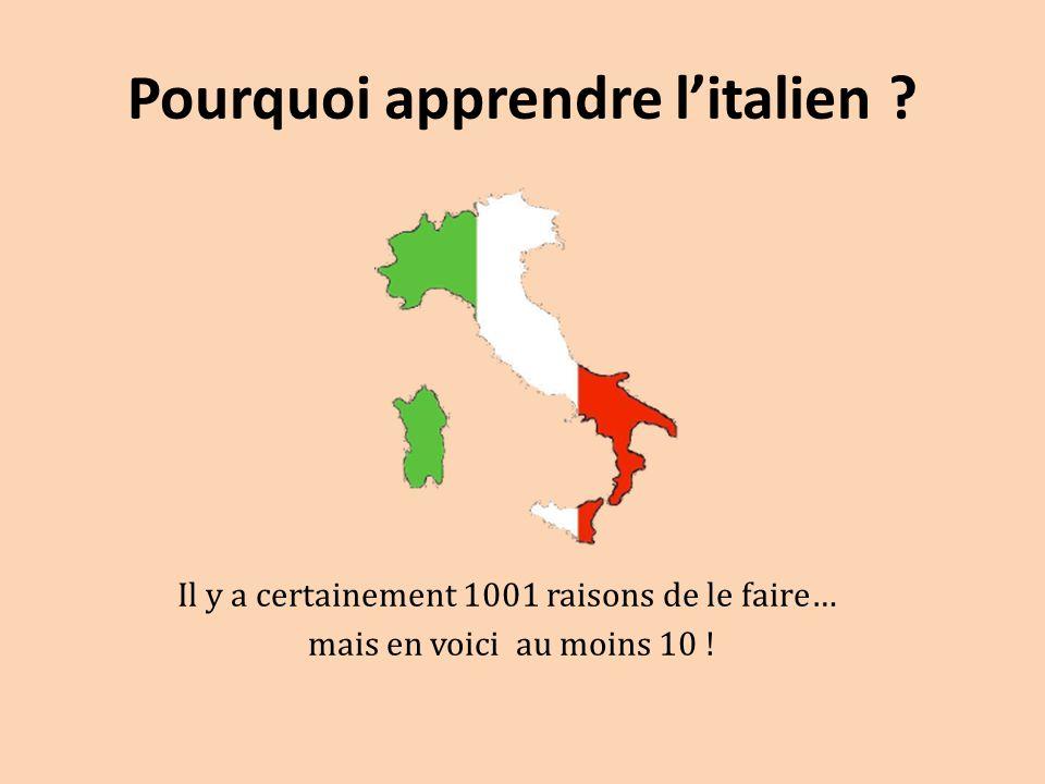 Pourquoi apprendre l'italien