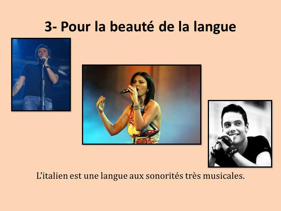 3- Pour la beauté de la langue