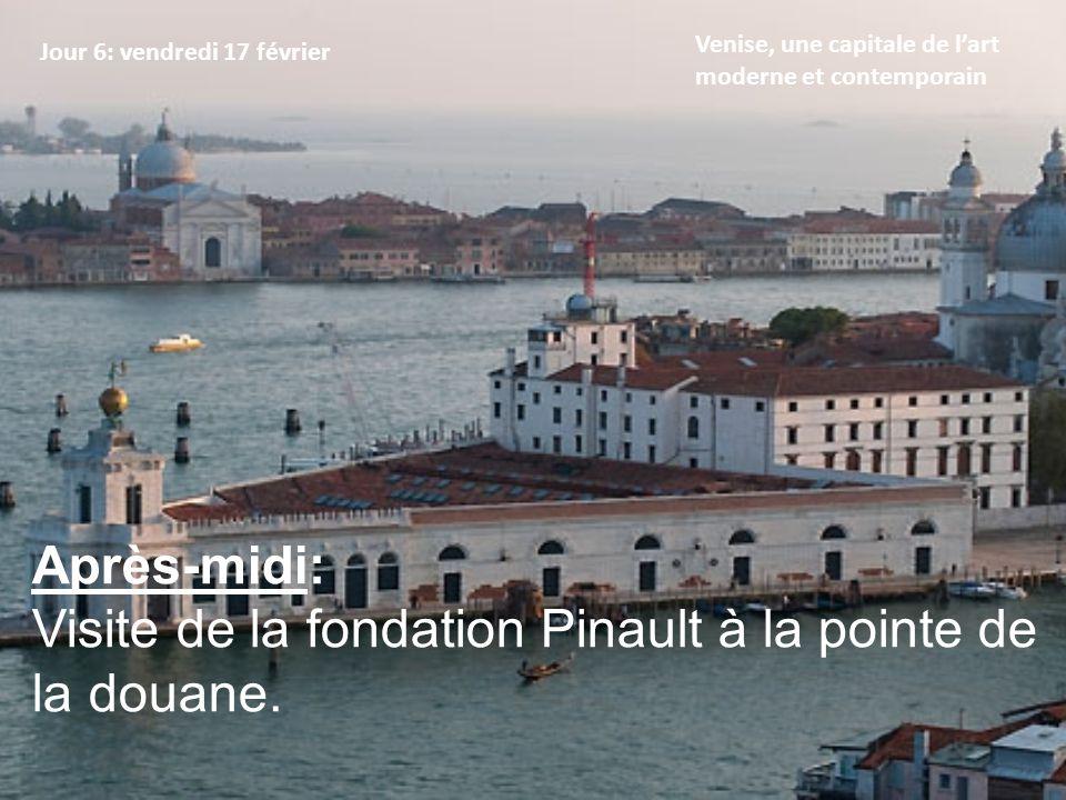 Visite de la fondation Pinault à la pointe de la douane.