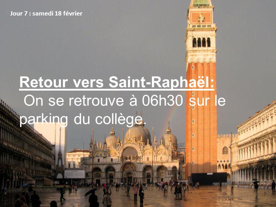 Retour vers Saint-Raphaël: