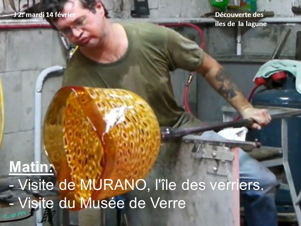 Visite de MURANO, l île des verriers. Visite du Musée de Verre