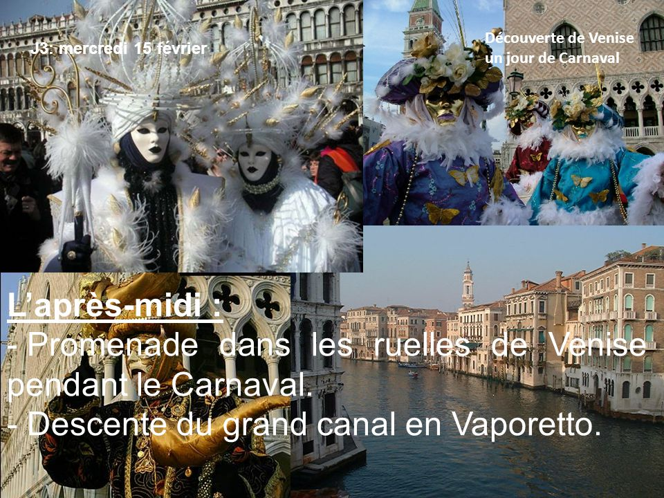 Promenade dans les ruelles de Venise pendant le Carnaval.